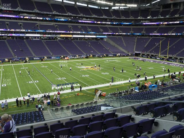 U.S. Bank Stadium Section 131 view