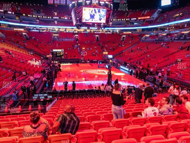 American Airlines Arena Section 113 view