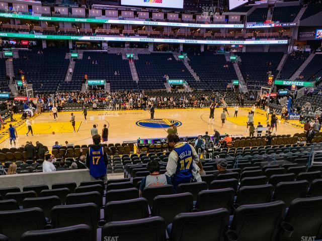Chase Center Section 104 view