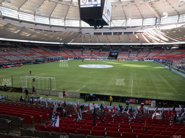BC Place Stadium Section 252 view
