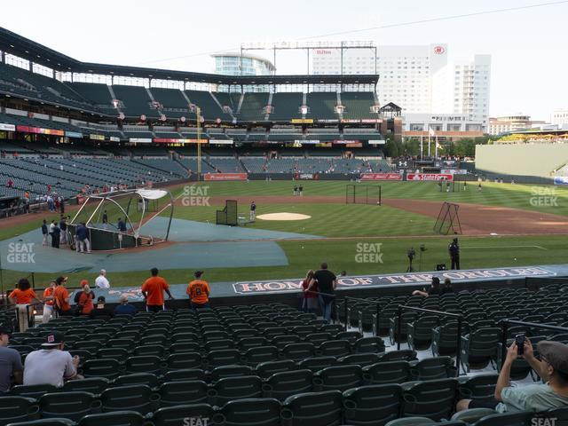 Oriole Park at Camden Yards Section 26 view