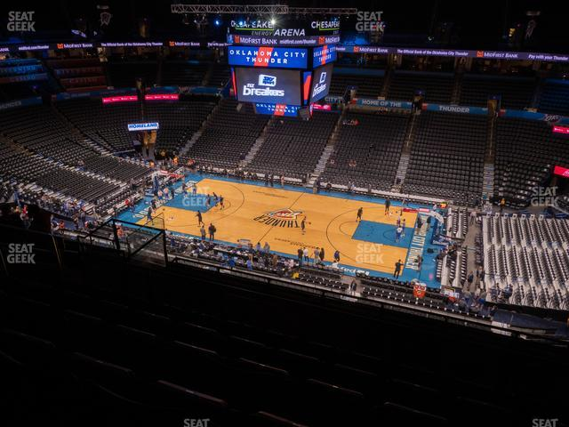 Chesapeake Energy Arena Section 322 view