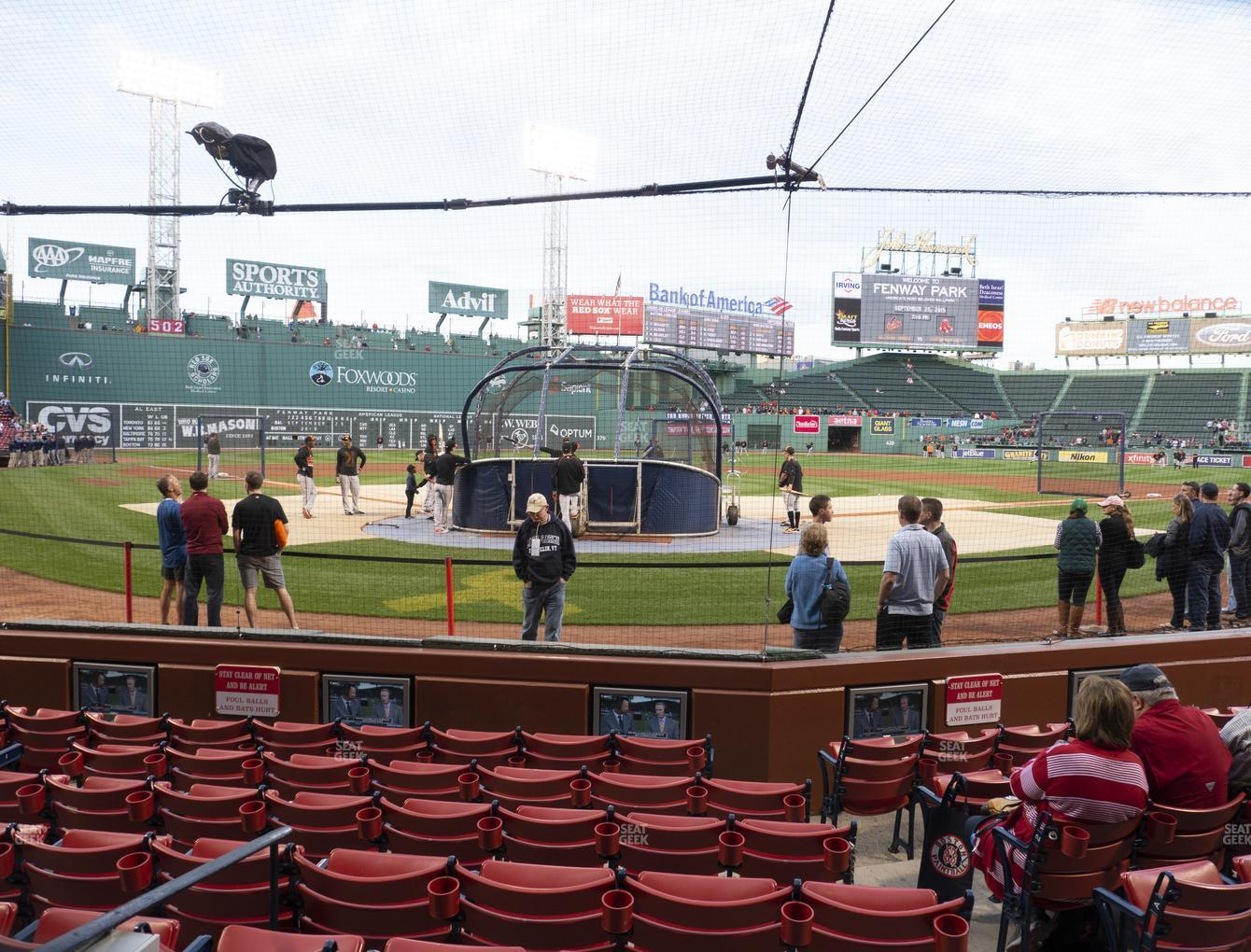 Boston Red Sox at Fenway Park Field Box 43 View