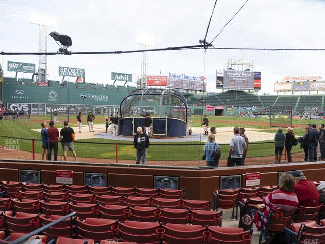 Fenway Park Field Box 43 view