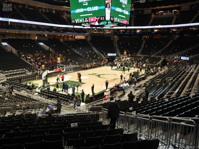 Fiserv Forum Section 120 view