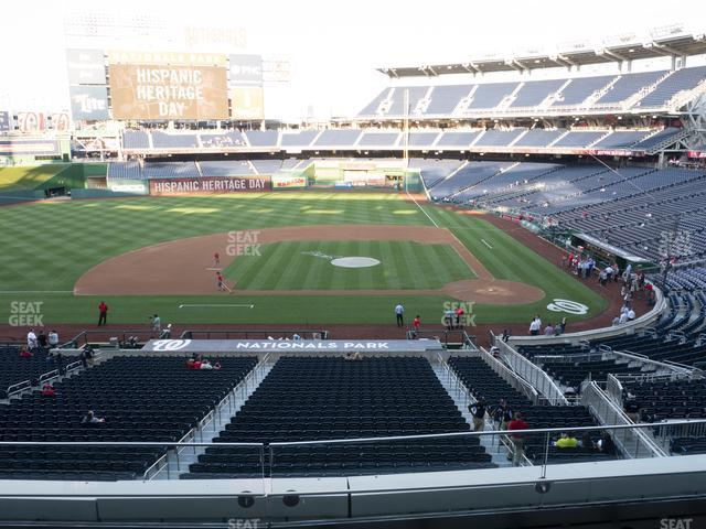 Nationals Park Section 209 view