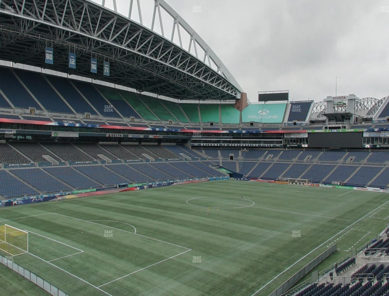 Seattle Sounders FC at CenturyLink Field Section 143 View