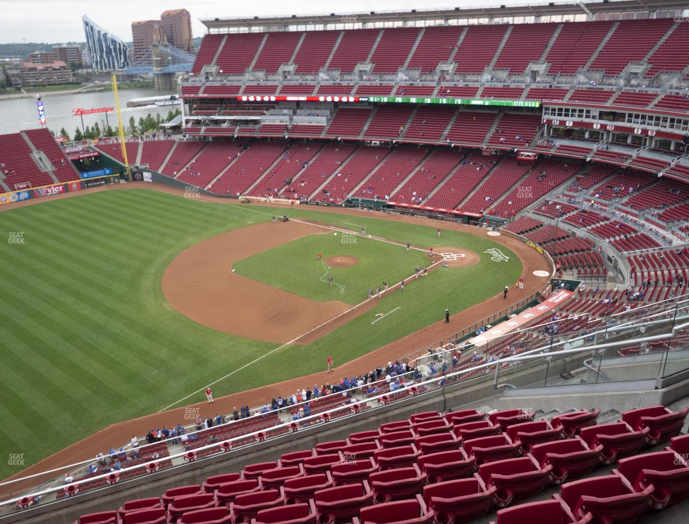 Cincinnati Reds at Great American Ball Park Section 513 View