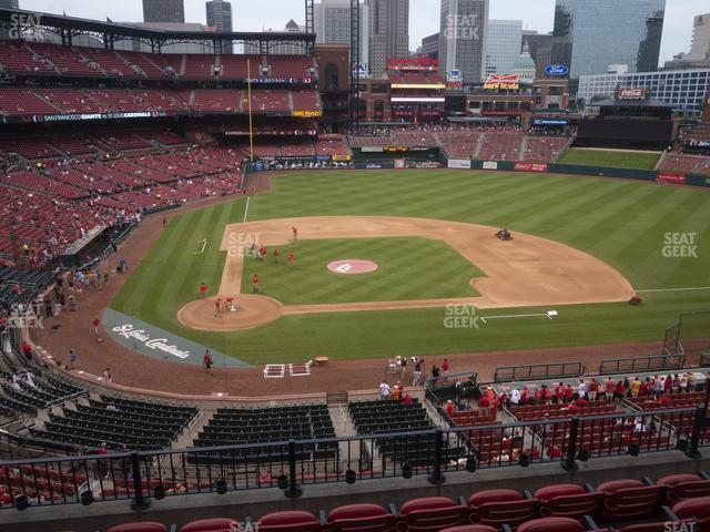 Busch Stadium Infield Redbird Club 246 view