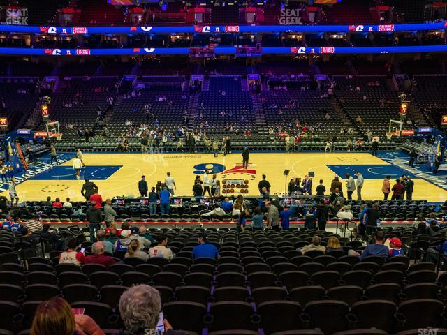 Wells Fargo Center Section 101 view
