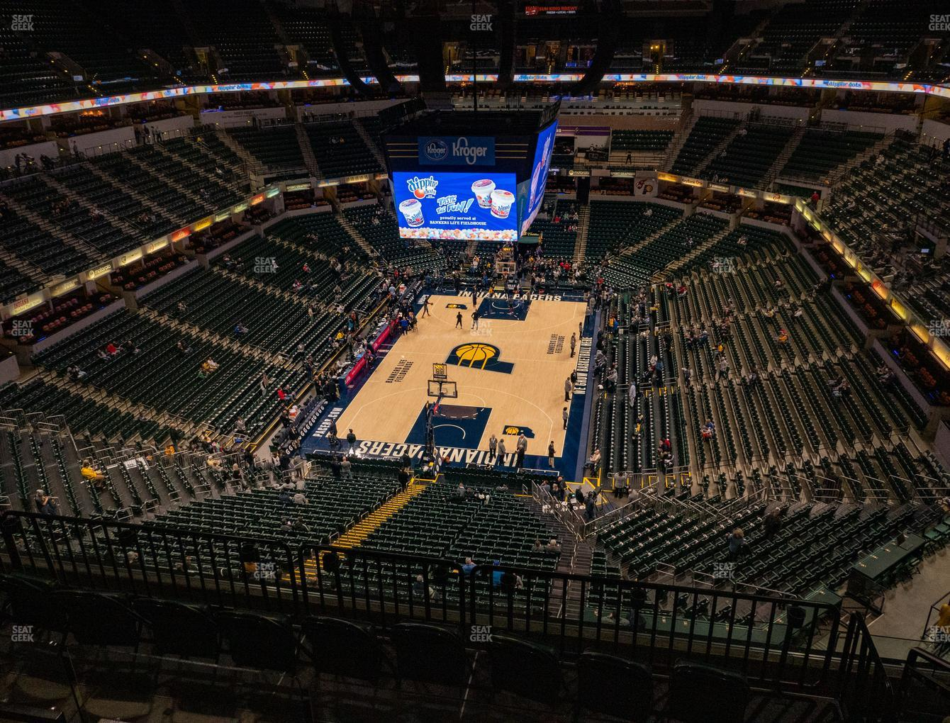 Indiana Pacers at Bankers Life Fieldhouse Section 232 View