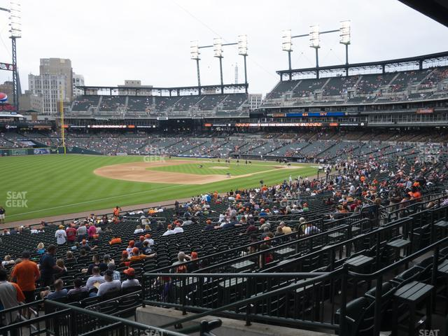 Comerica Park Section 140 view