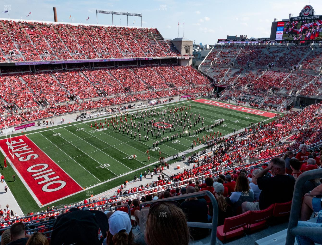Ohio State Buckeyes Football at Ohio Stadium Section 13 C View