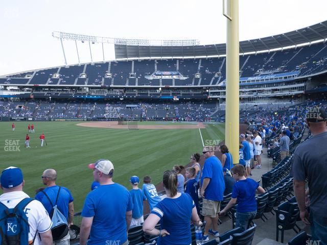 Kauffman Stadium Section 107 view