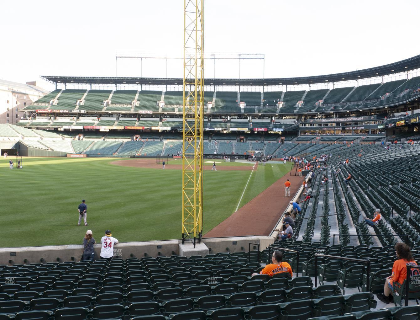 Baltimore Orioles at Oriole Park at Camden Yards Section 74 View