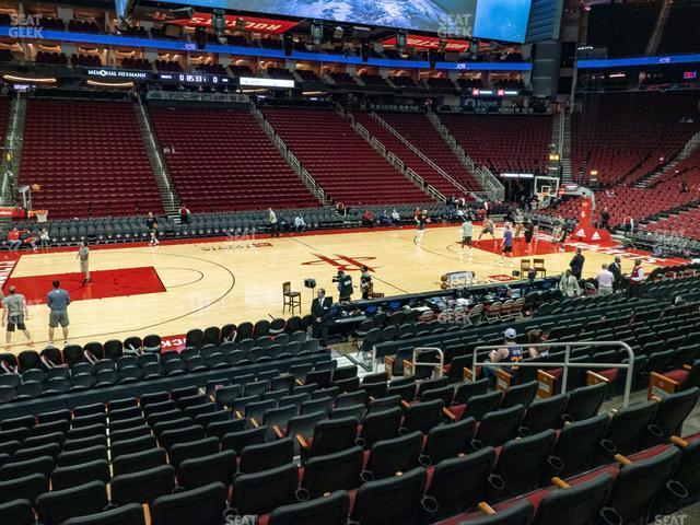 Toyota Center Section 121 view
