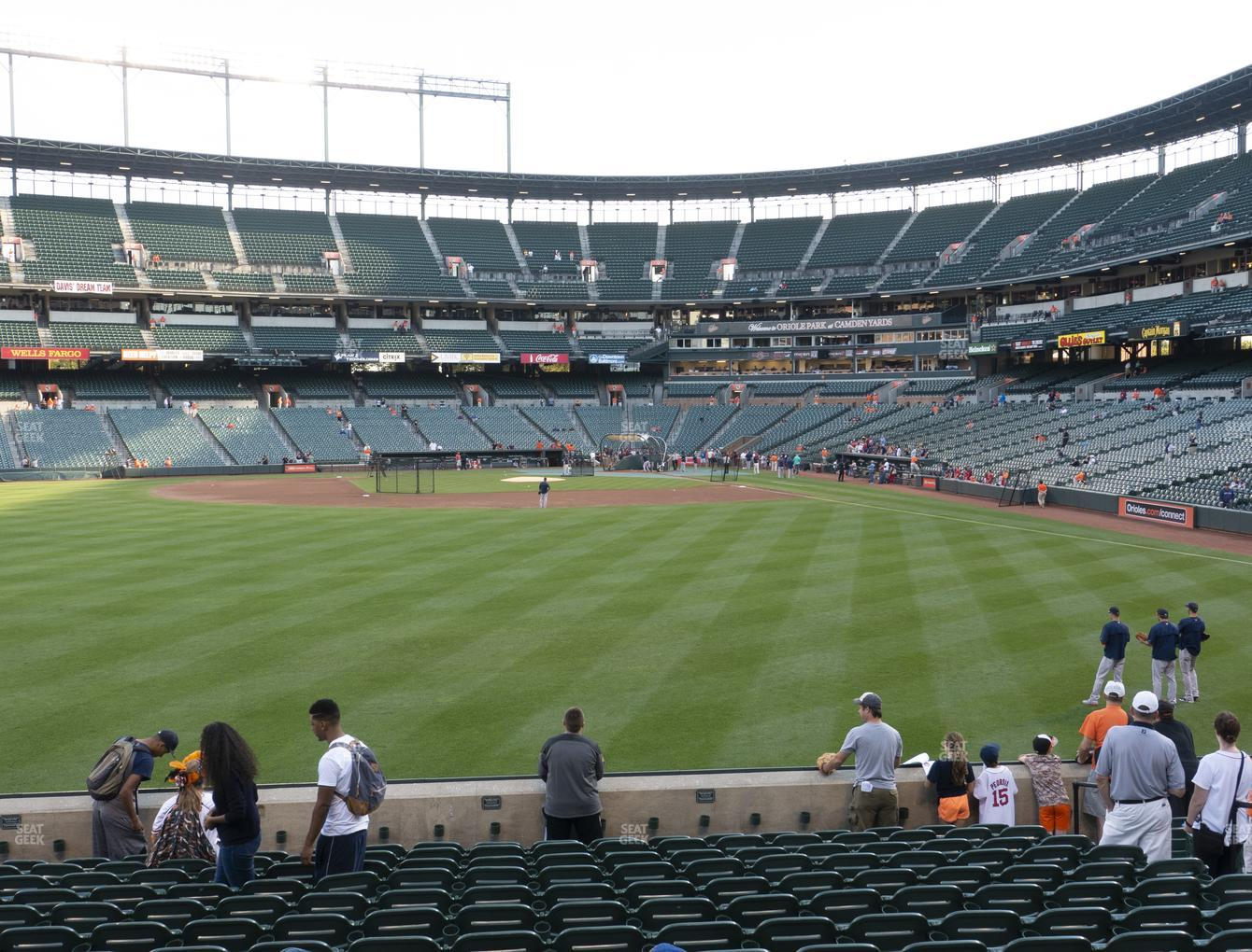 Baltimore Orioles at Oriole Park at Camden Yards Section 82 View
