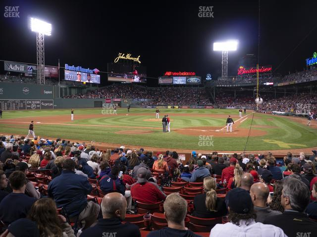 Fenway Park Loge Box 135 view