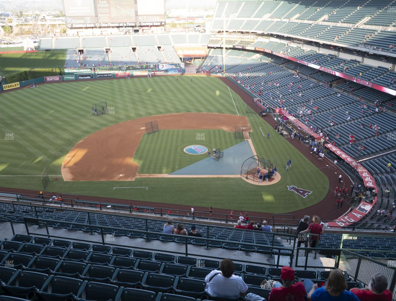 Los Angeles Angels at Angel Stadium of Anaheim Section 515 View