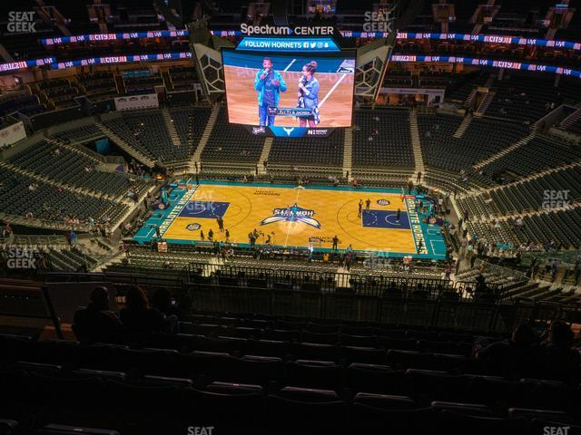 Spectrum Center Section 208 view