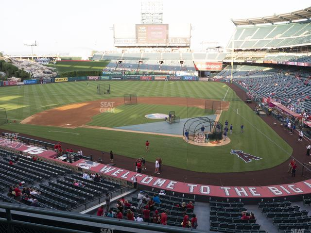 Angel Stadium of Anaheim Section 322 view