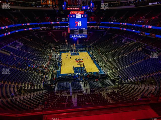 Wells Fargo Center Section 207 view