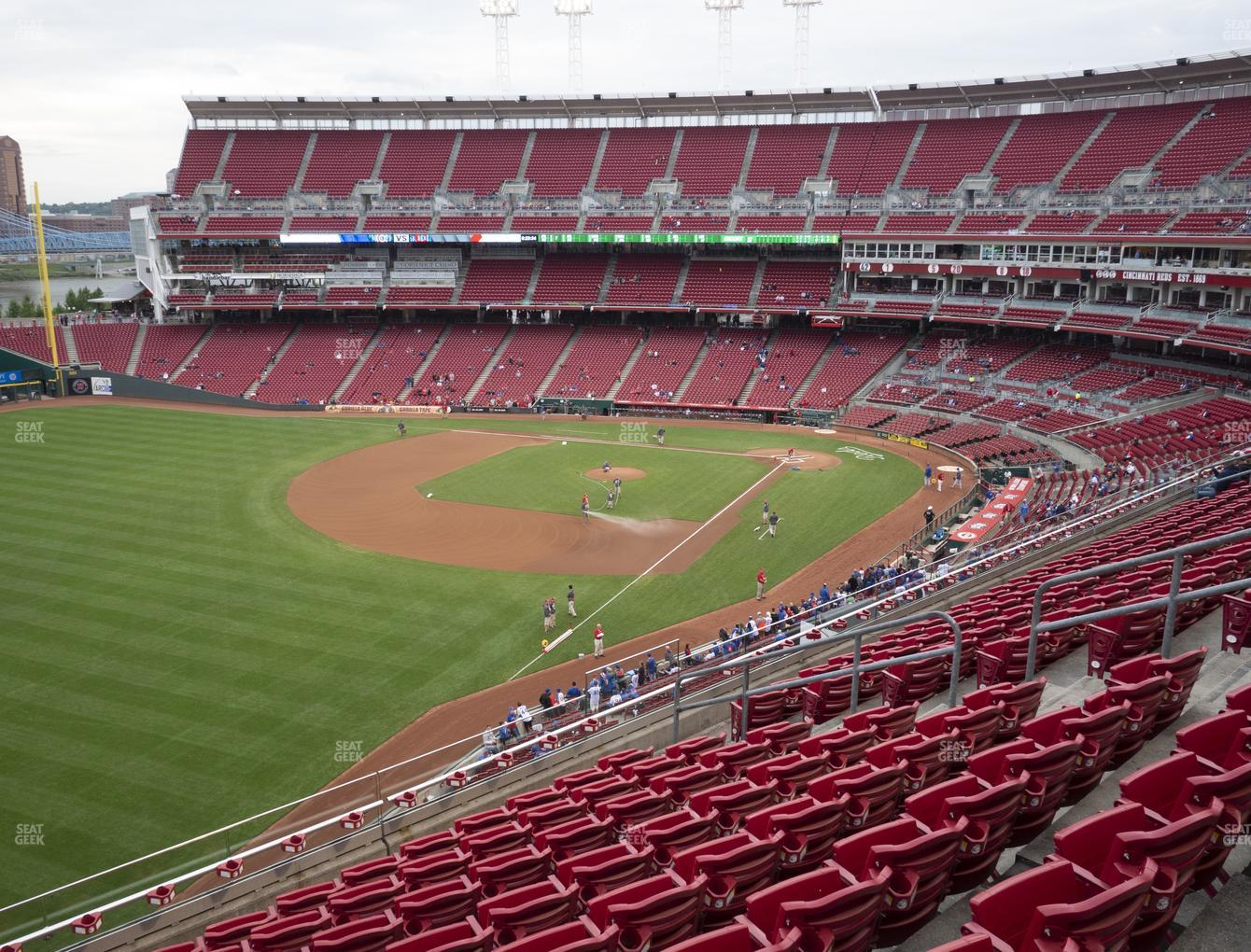 Cincinnati Reds at Great American Ball Park Section 411 View
