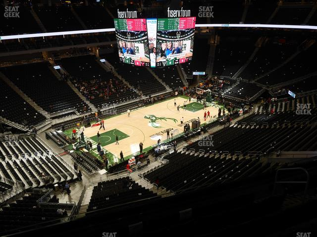 Fiserv Forum Section 225 view