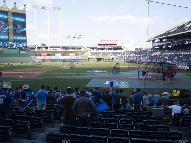 Kauffman Stadium Section 123 view