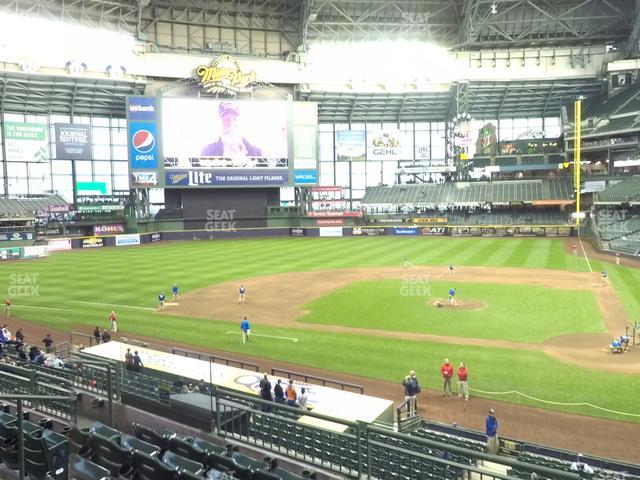 Miller Park Section 222 view