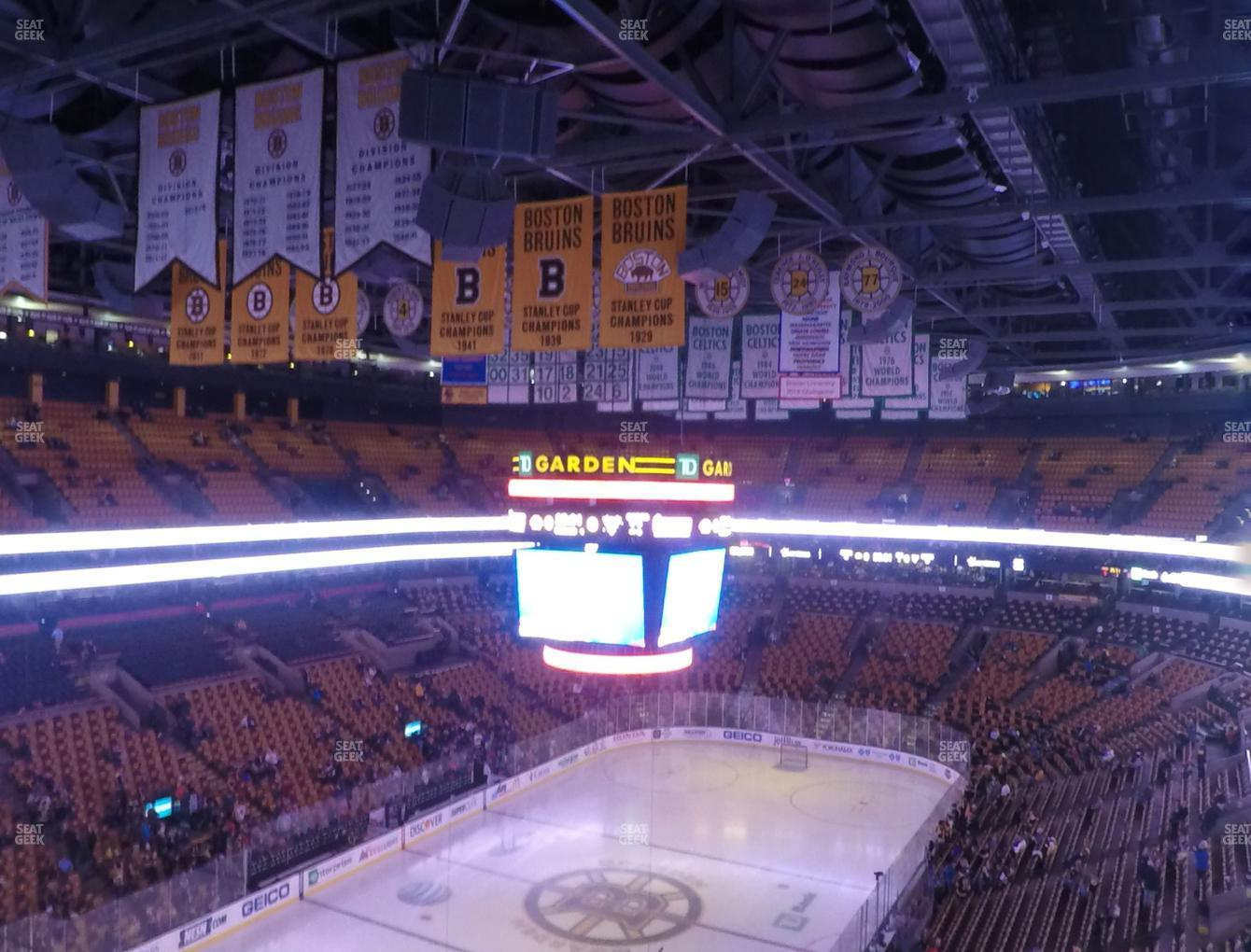Boston Bruins at TD Garden Balcony 321 View
