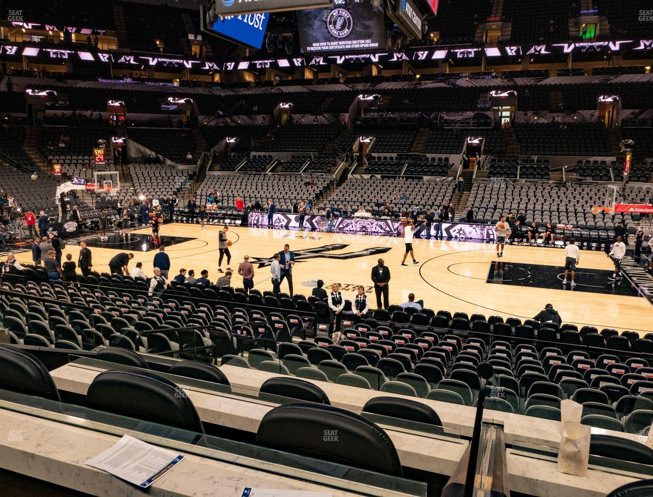 San Antonio Spurs at AT&T Center Box 3 View