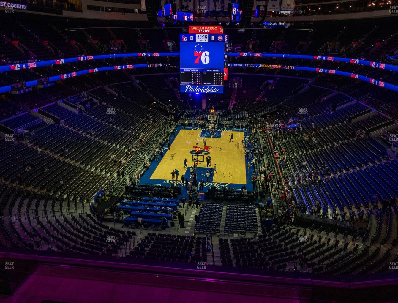 Philadelphia 76ers at Wells Fargo Center Section 219 A View