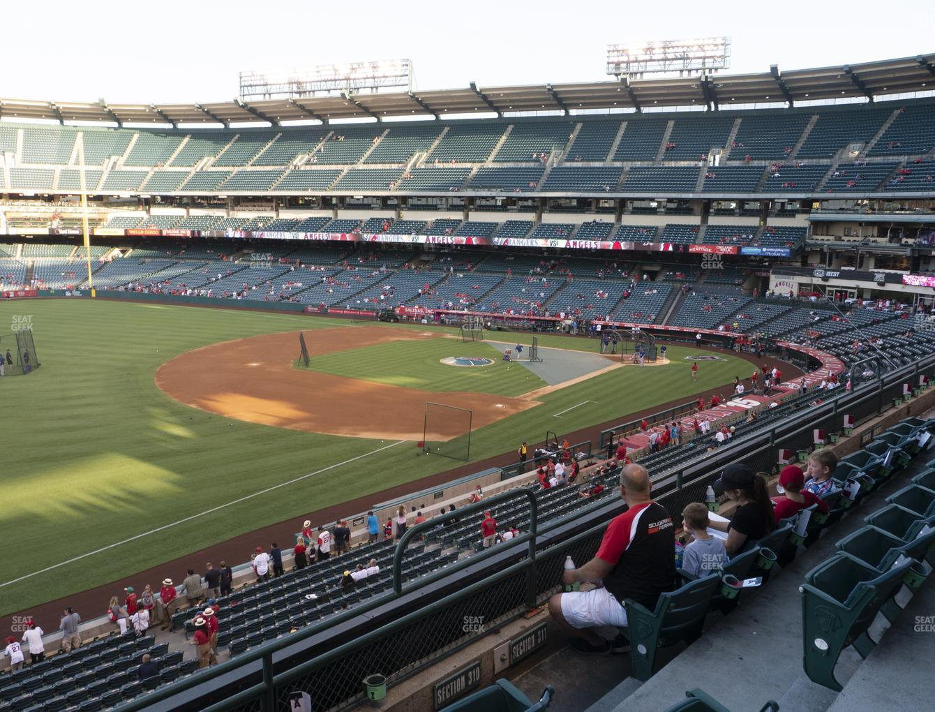 Los Angeles Angels at Angel Stadium of Anaheim Section 310 View