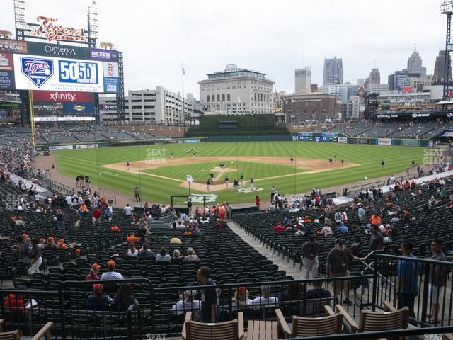 Comerica Park Section 127 view