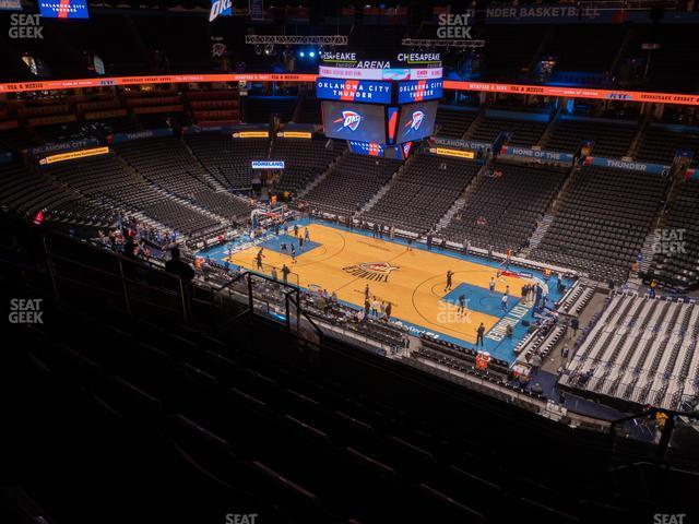 Chesapeake Energy Arena Section 321 view