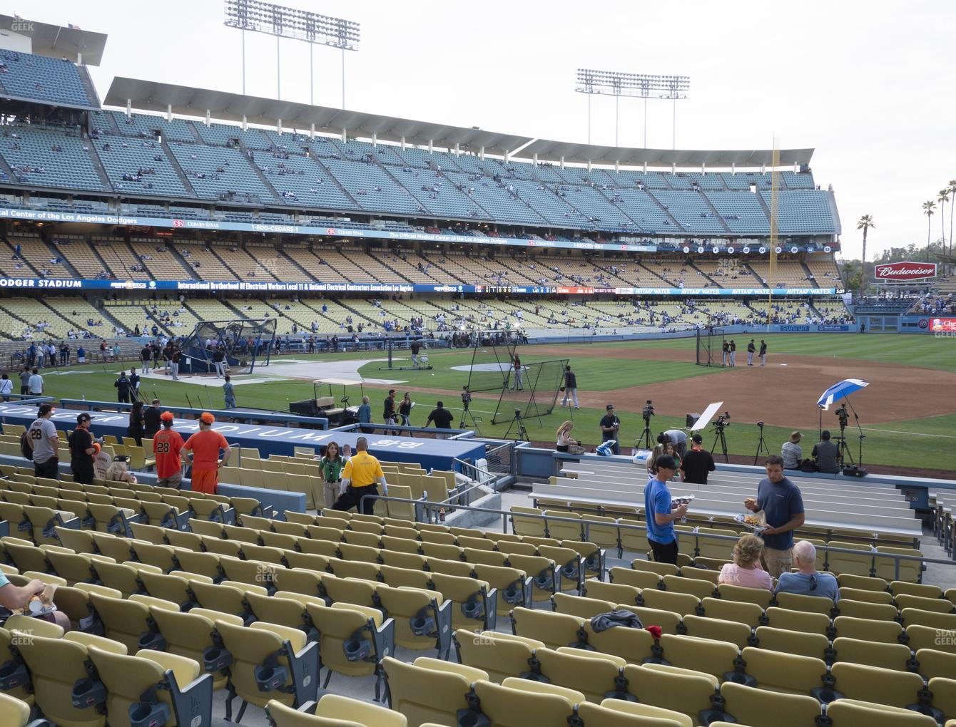 Los Angeles Dodgers at Dodger Stadium Field Box 28 View