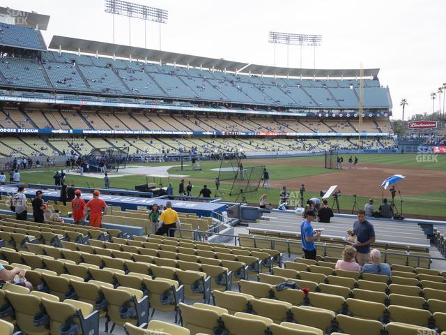 Dodger Stadium Field Box 28 view