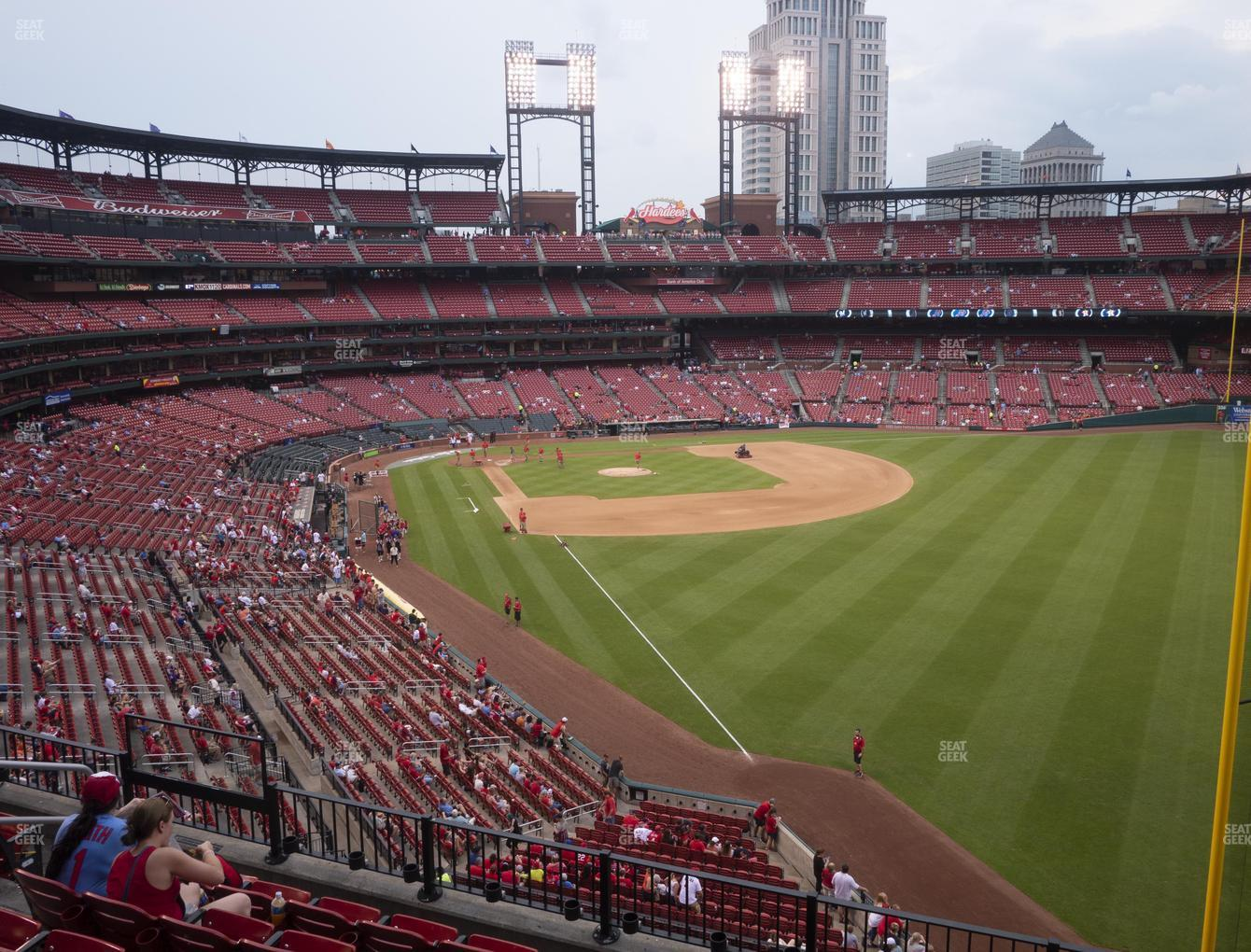 St. Louis Cardinals at Busch Stadium Right Field Loge 231 View