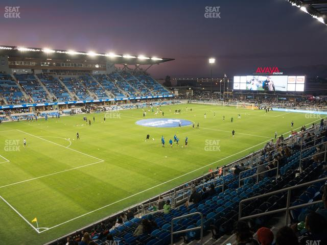 Avaya Stadium Section 123 view