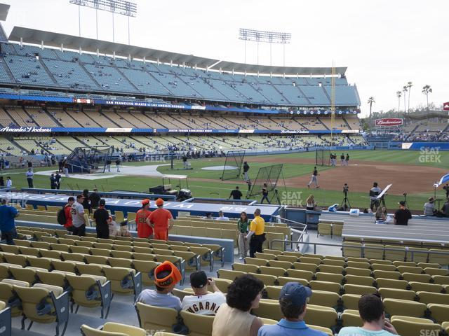 Dodger Stadium Field Box 26 view