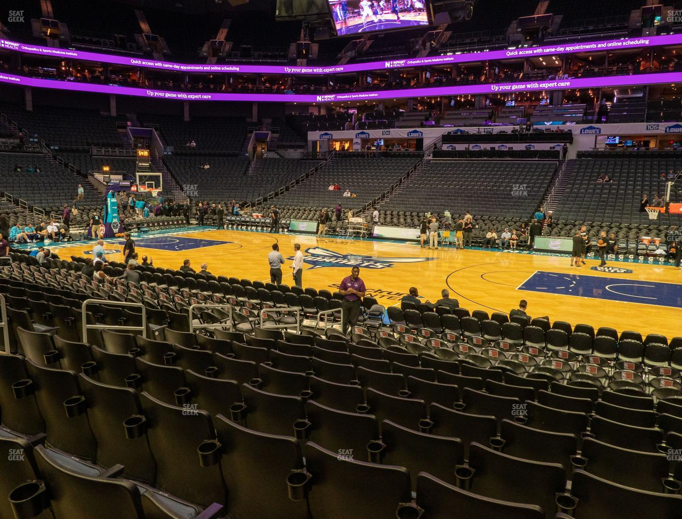Charlotte Hornets at Spectrum Center Section 113 View