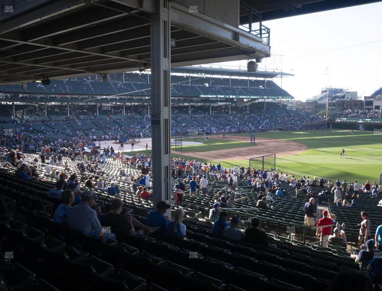 Chicago Cubs at Wrigley Field Section 229 View