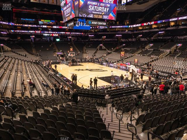 AT&T Center Section 117 view