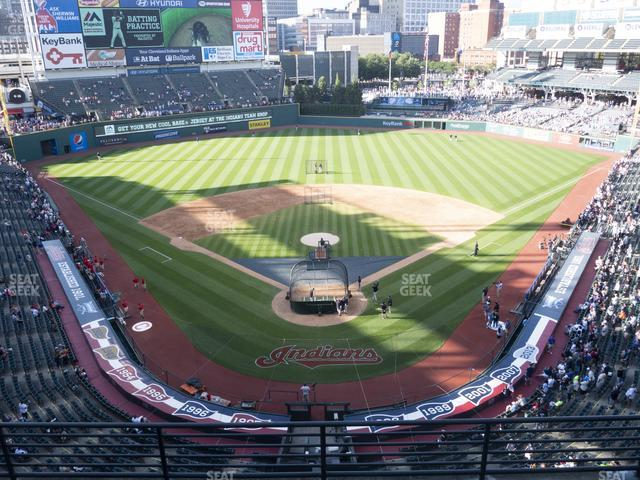 Progressive Field Section 454 view