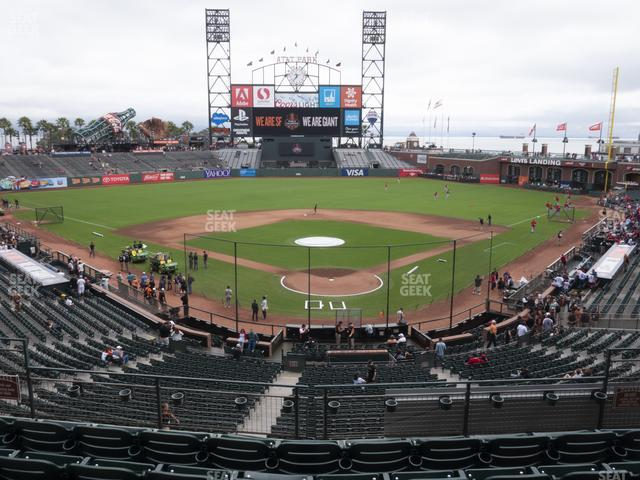 Oracle Park Section 216 view