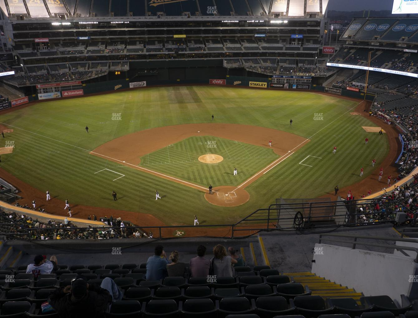 Oakland Athletics at RingCentral Coliseum Section 318 View