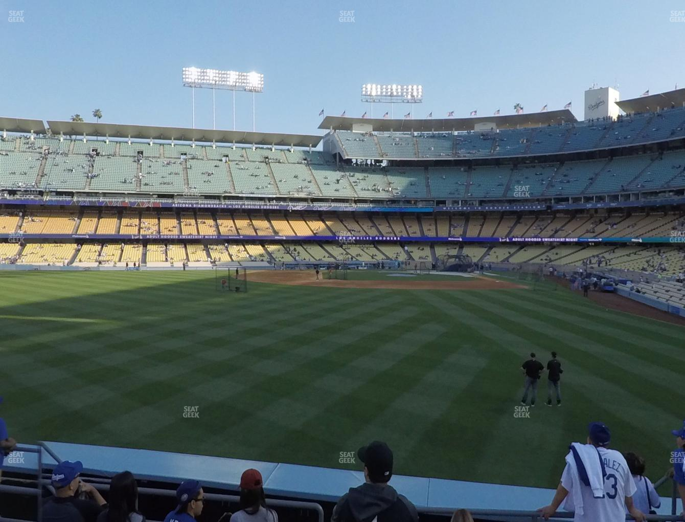 Los Angeles Dodgers at Dodger Stadium Left Field Pavilion 303 View