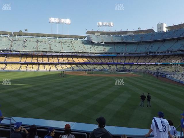 Dodger Stadium Left Field Pavilion 303 view