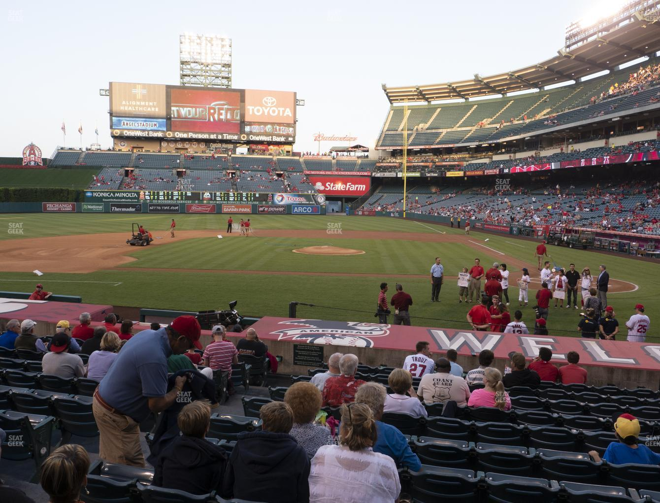 Los Angeles Angels at Angel Stadium of Anaheim Section 113 View